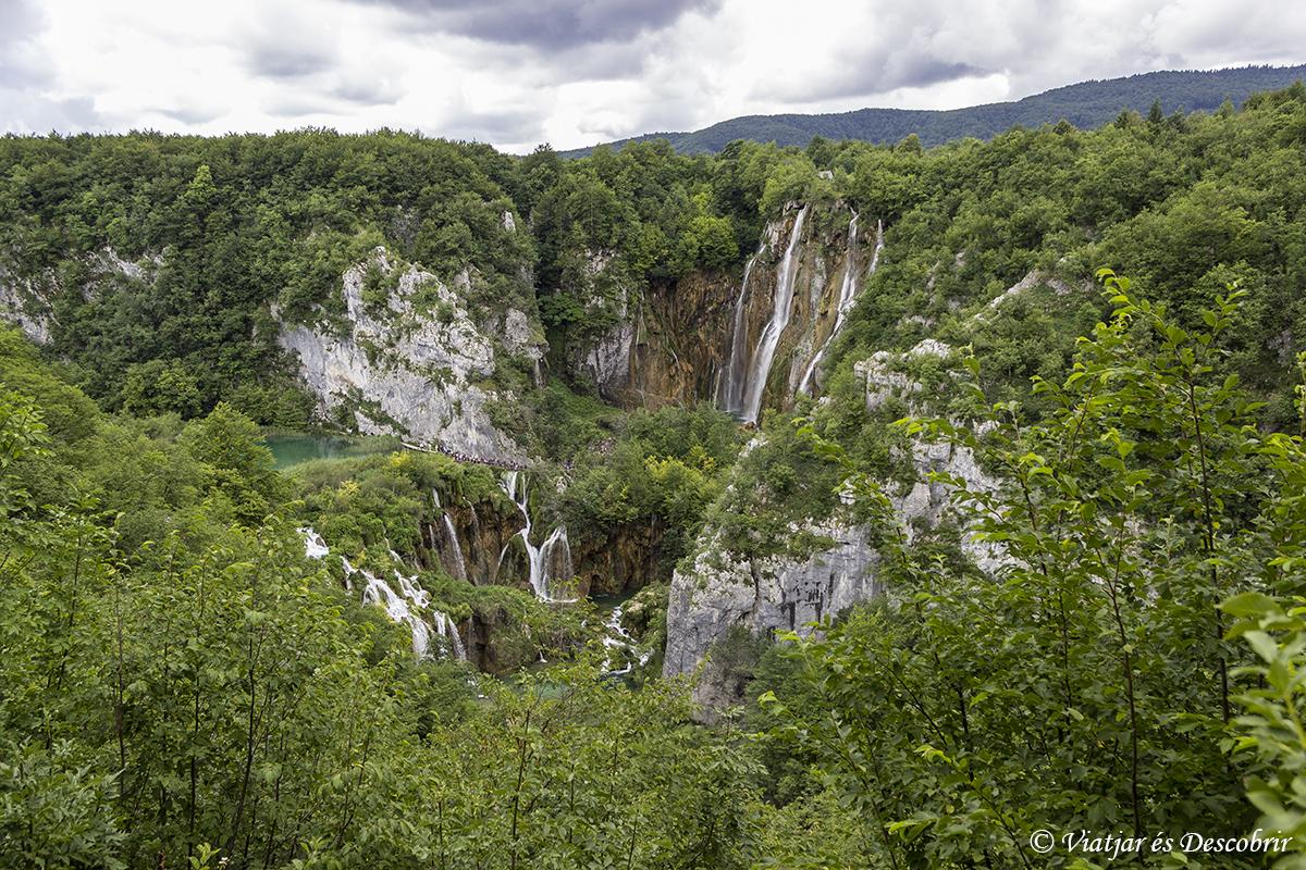 Parque Nacional Lagos de Plitvice vista panoramica