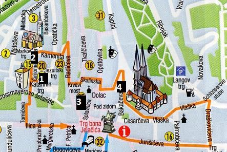 Mapa de la Ciudad Alta