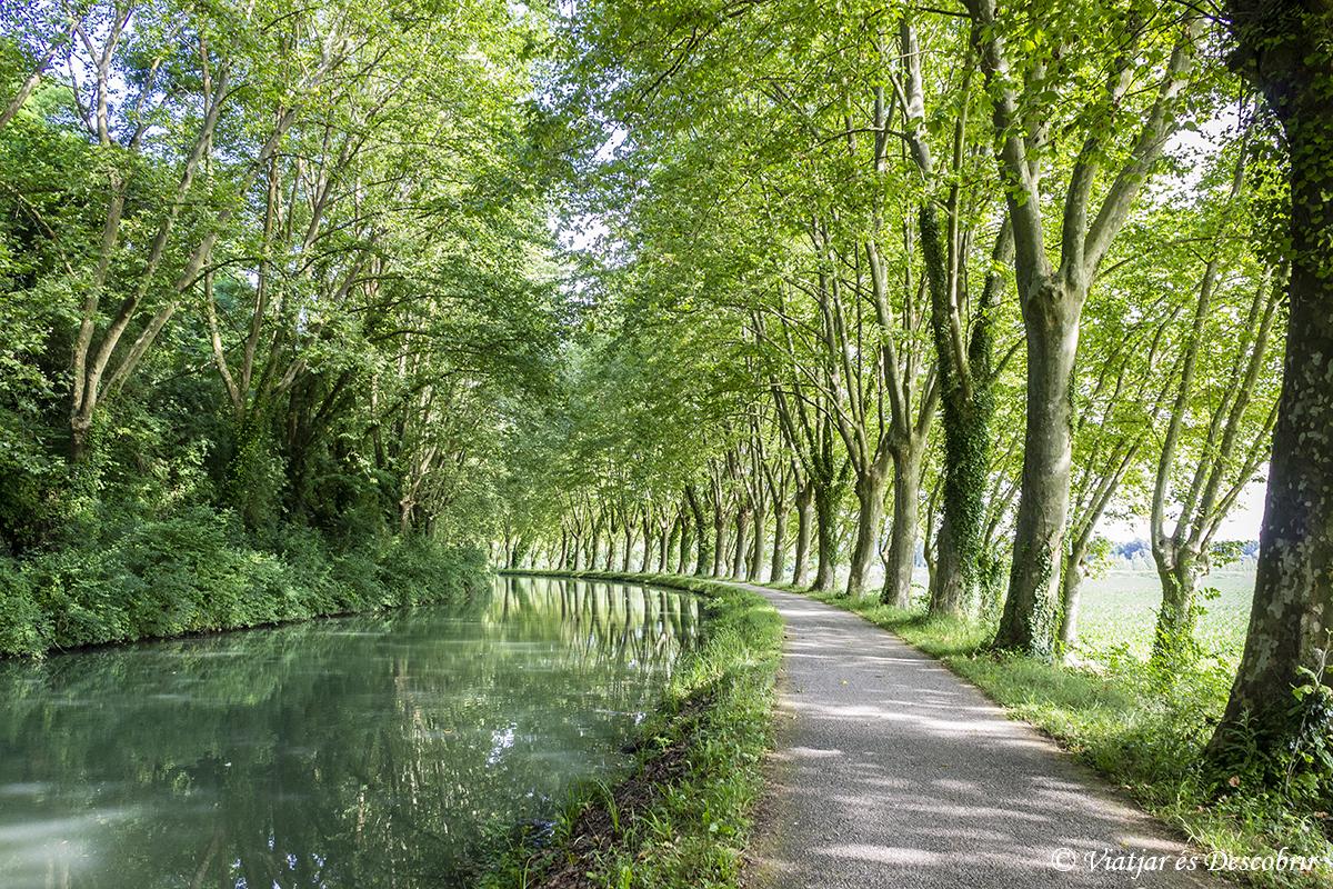 Francia en bicicleta. Canal de Garonne