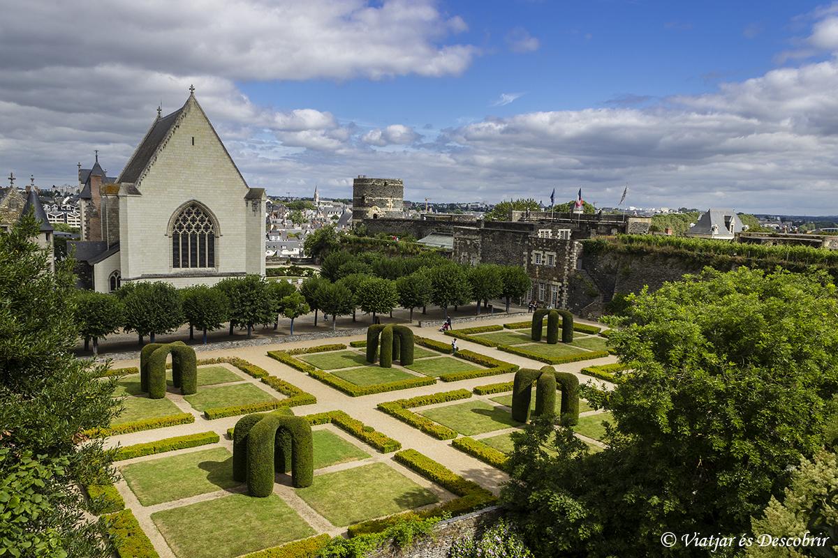 L'interior del castell d'Angers.
