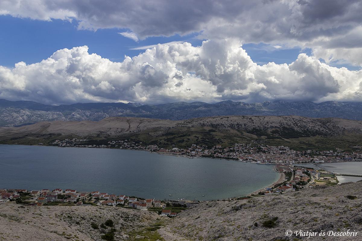 vista panoramica isla de pag