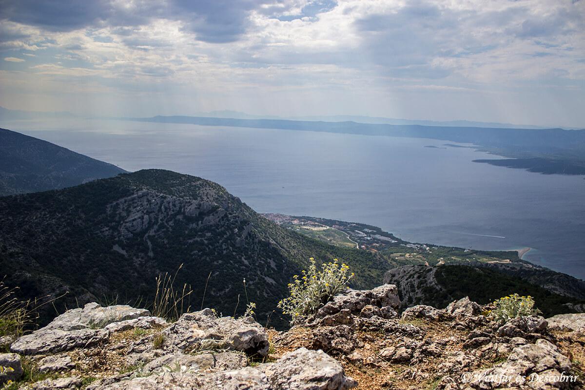 Vidova Gora vista del Adriatico