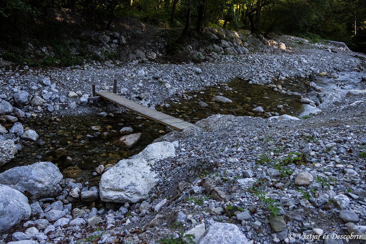 senderismo cerca de Tolmin a la cascada Beri