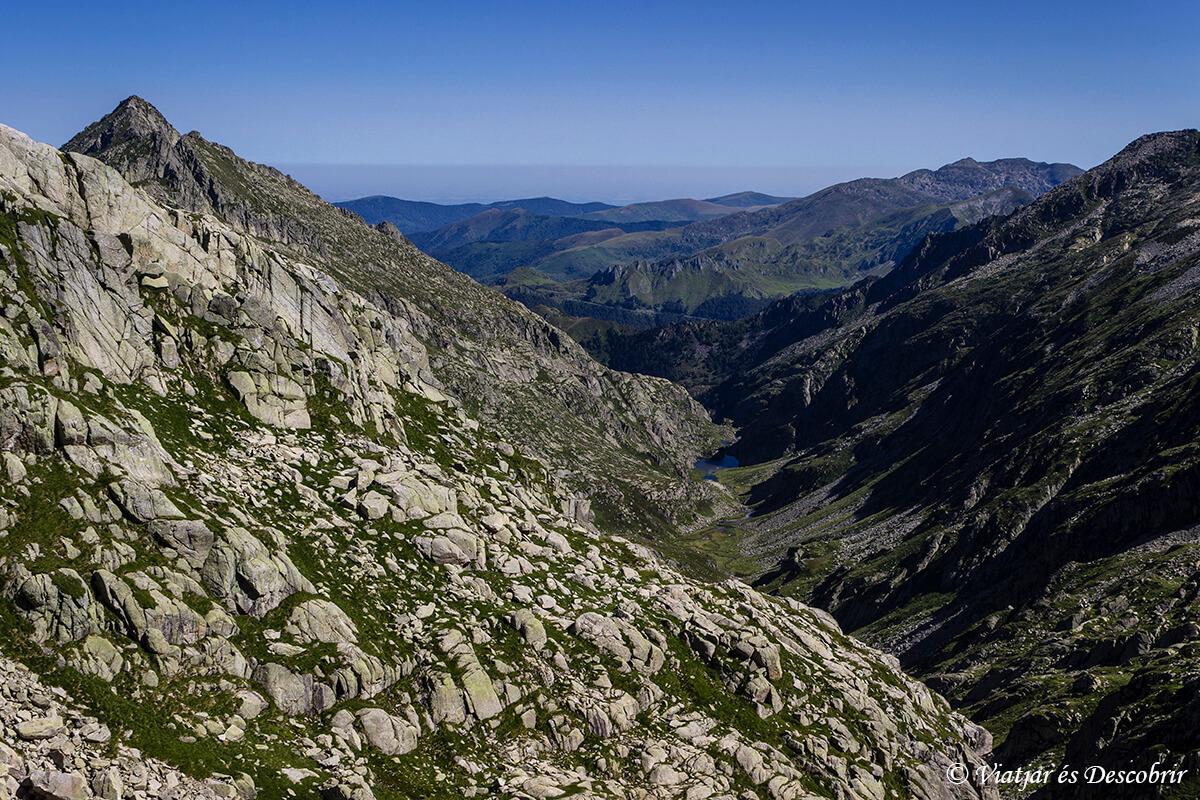 panoramica durante el trekking de muntanyes de llibertat port de guilo