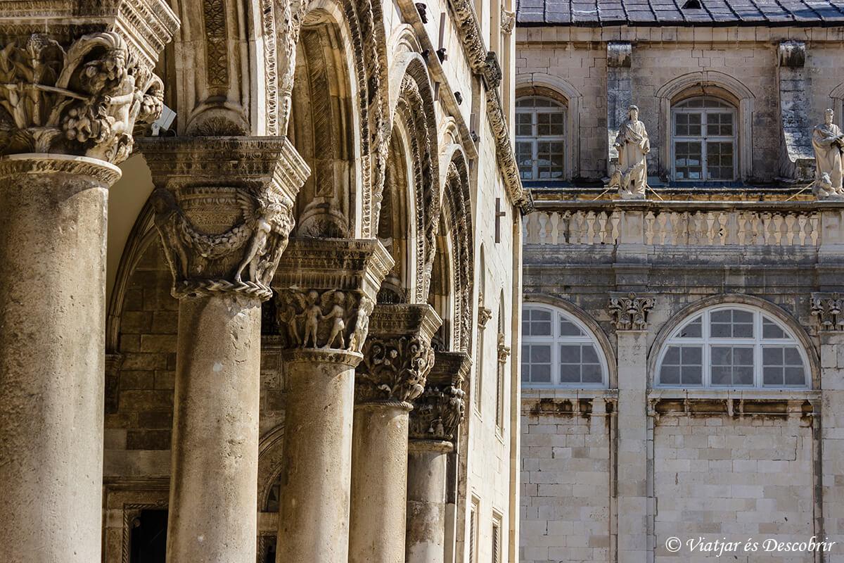 detalles de las columnas que ver en dubrovnik