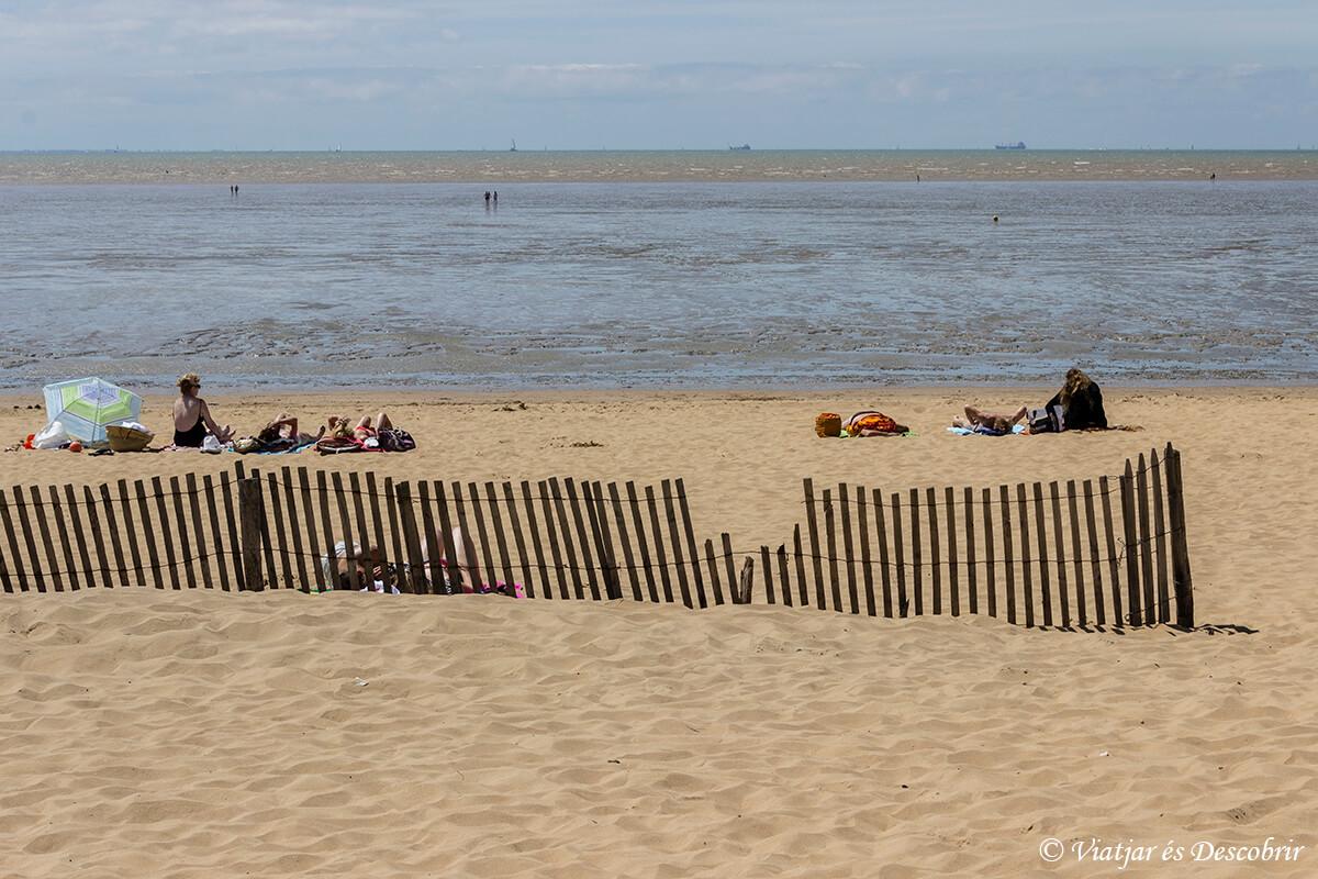 playa en la costa atlantica francesa