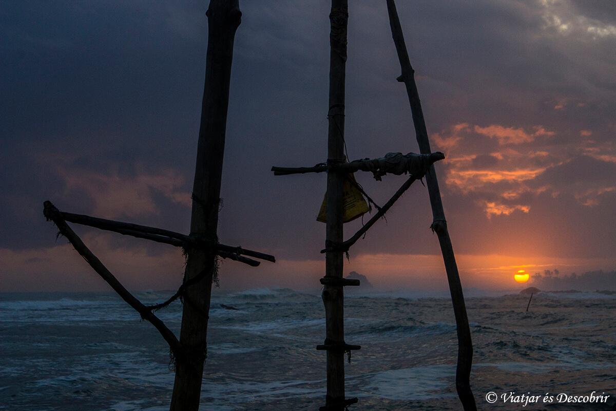tradicionales puestos de pescadores en sri lanka
