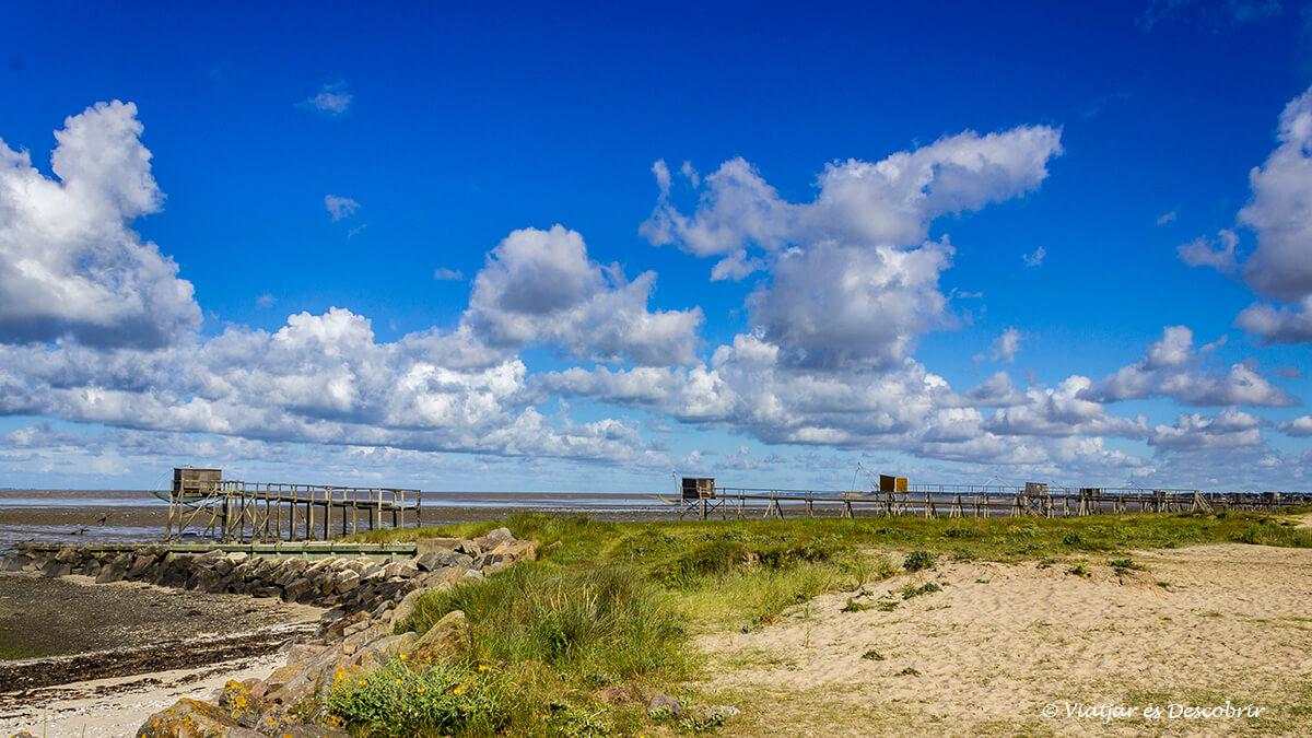 paisaje del litoral de la costa atlantica en el norte de francia en bicicleta
