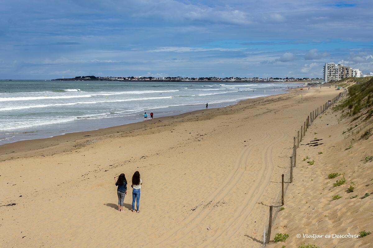 las playas de la costa atlantica francesa en bicicleta son preciosas