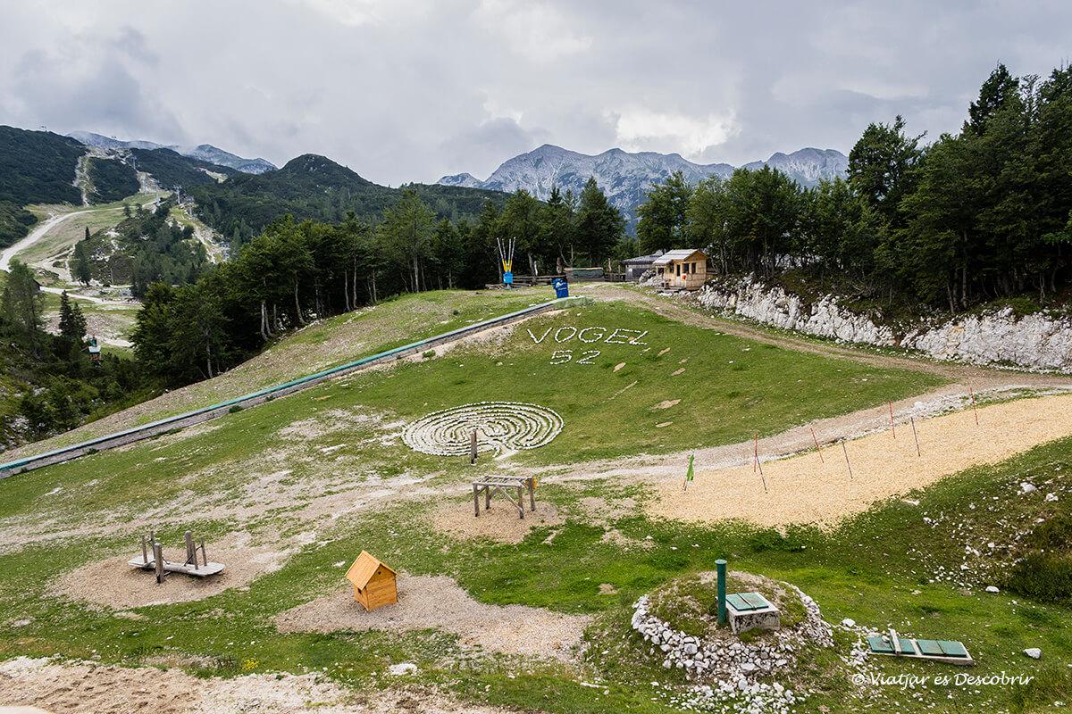 estacion de esqui del mont vogel cerca del lago bohinj