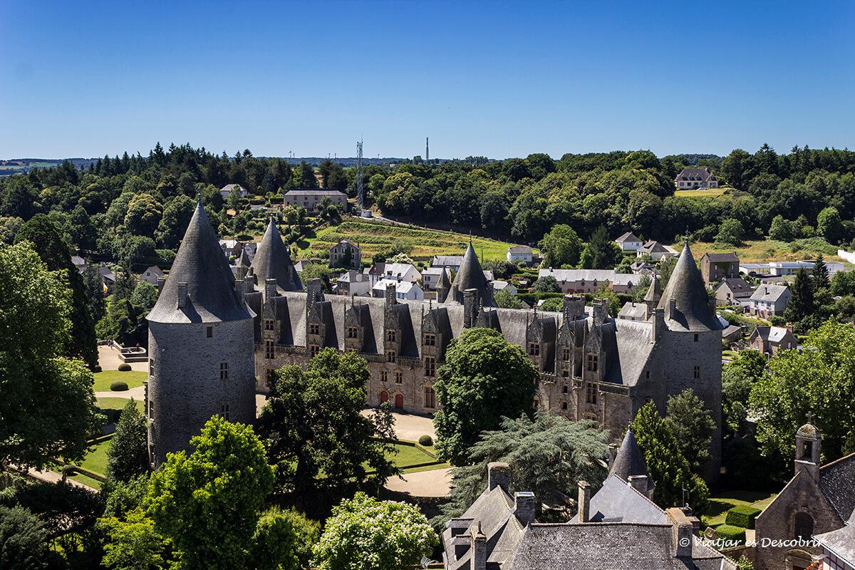 vista panoramica del interior de la bretaña francesa