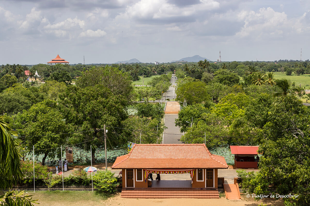 Vista panorámica de Anuradhapura en Sri Lanka