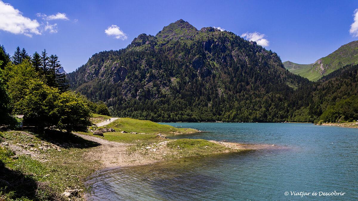 lago bidous-artigues en los lagos de ayous en francia