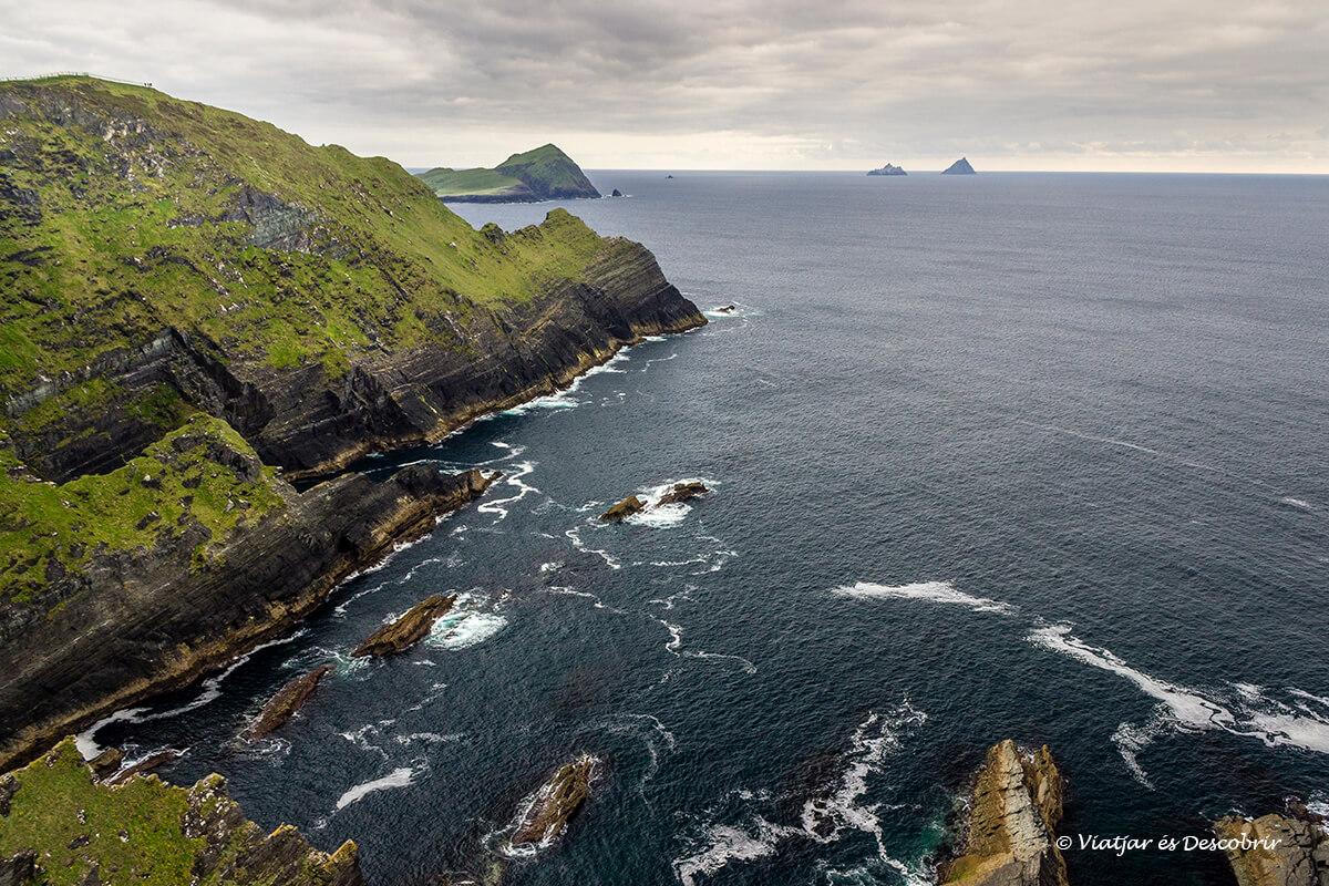 los kerry cliffs fueron de las mejores vistas del viaje en irlanda