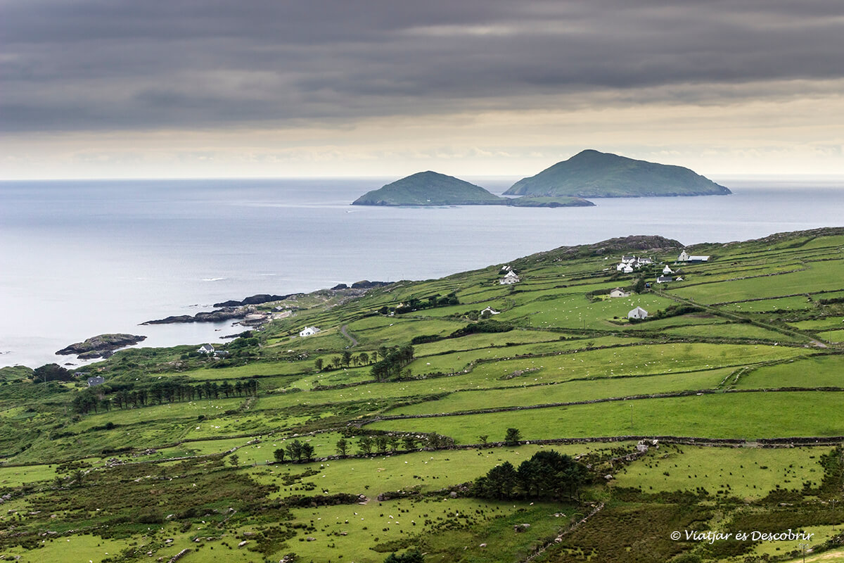 vista de la ruta Kerry ring en la costa de irlanda