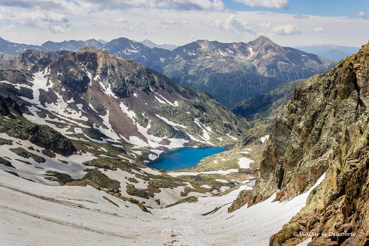 panoramica des de la pica d'estats en verano con nieve