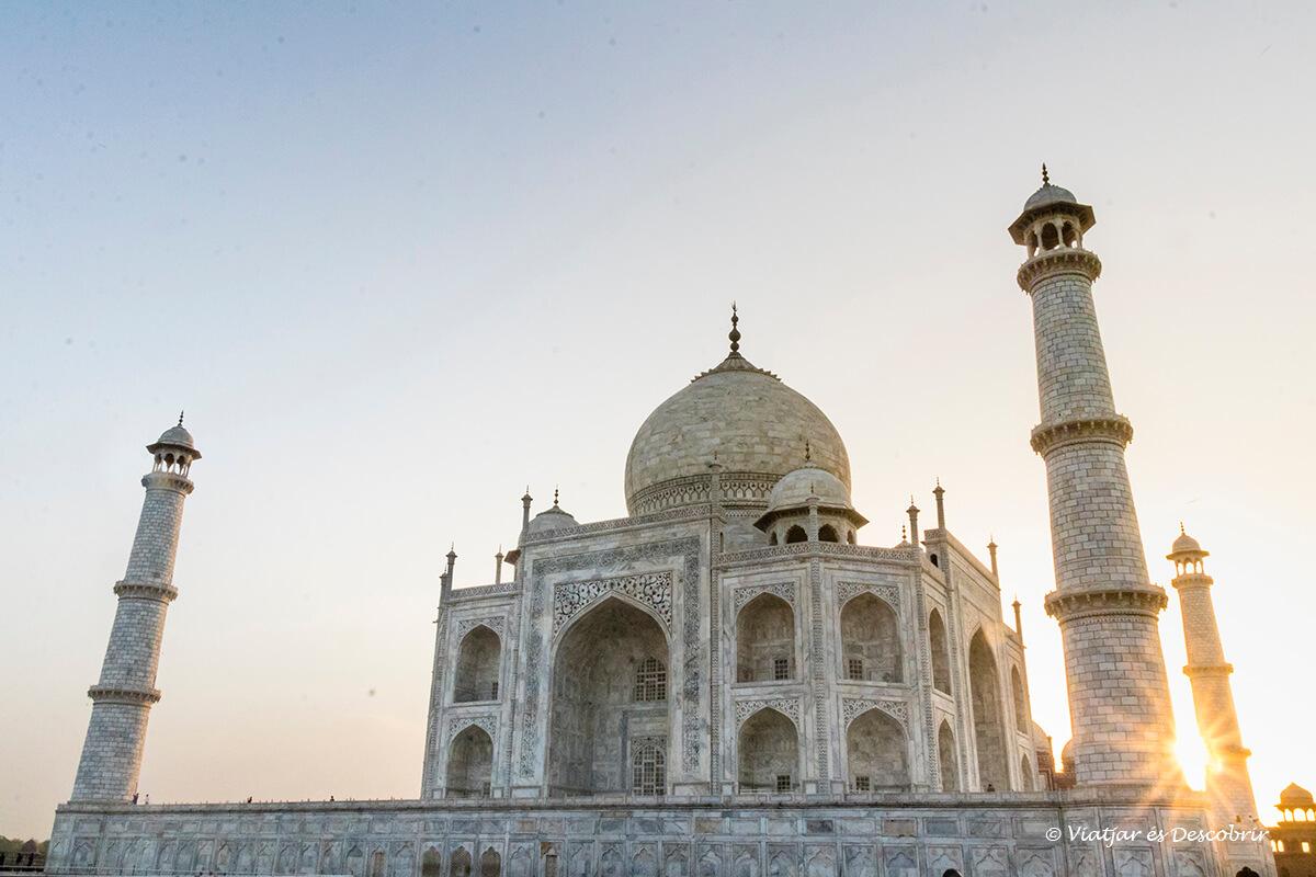 el taj mahal era imprescindible en el viaje a la india