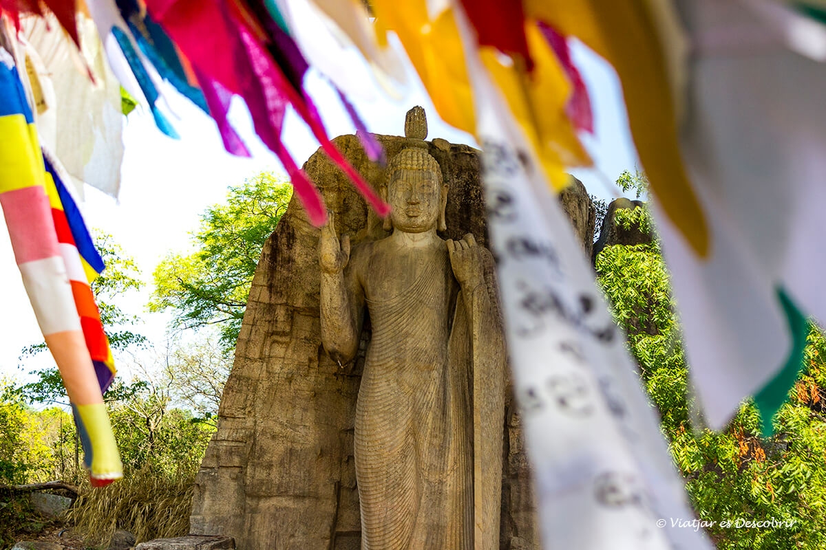 detalles del buda Aukana a sri lanka