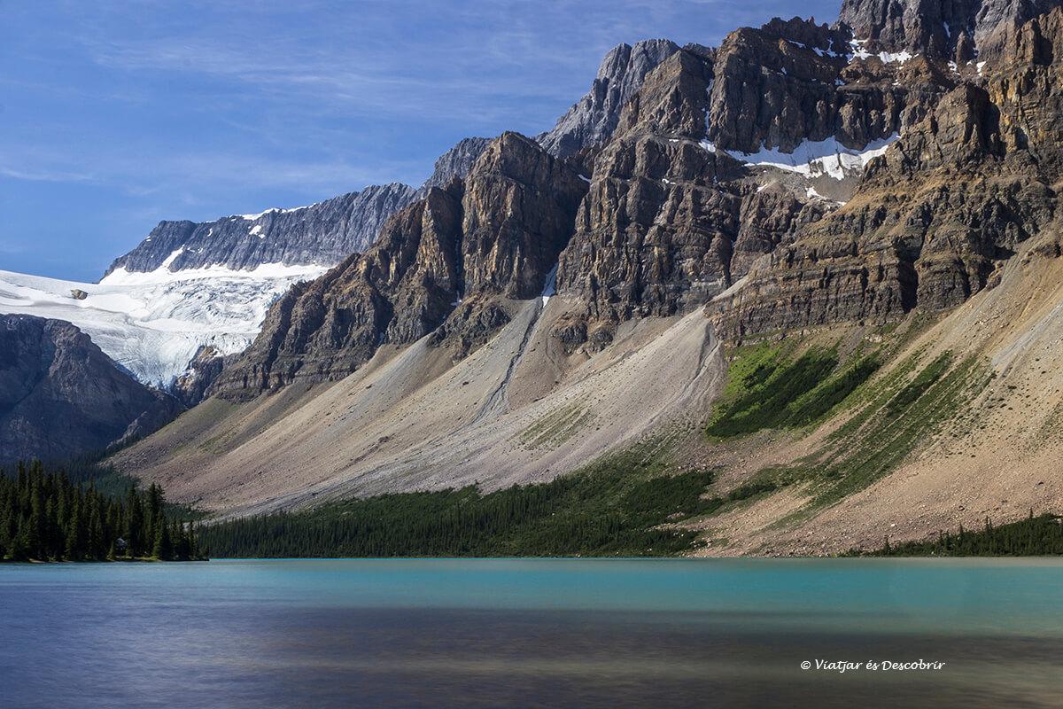 lago bow en la icefield parkway de banff