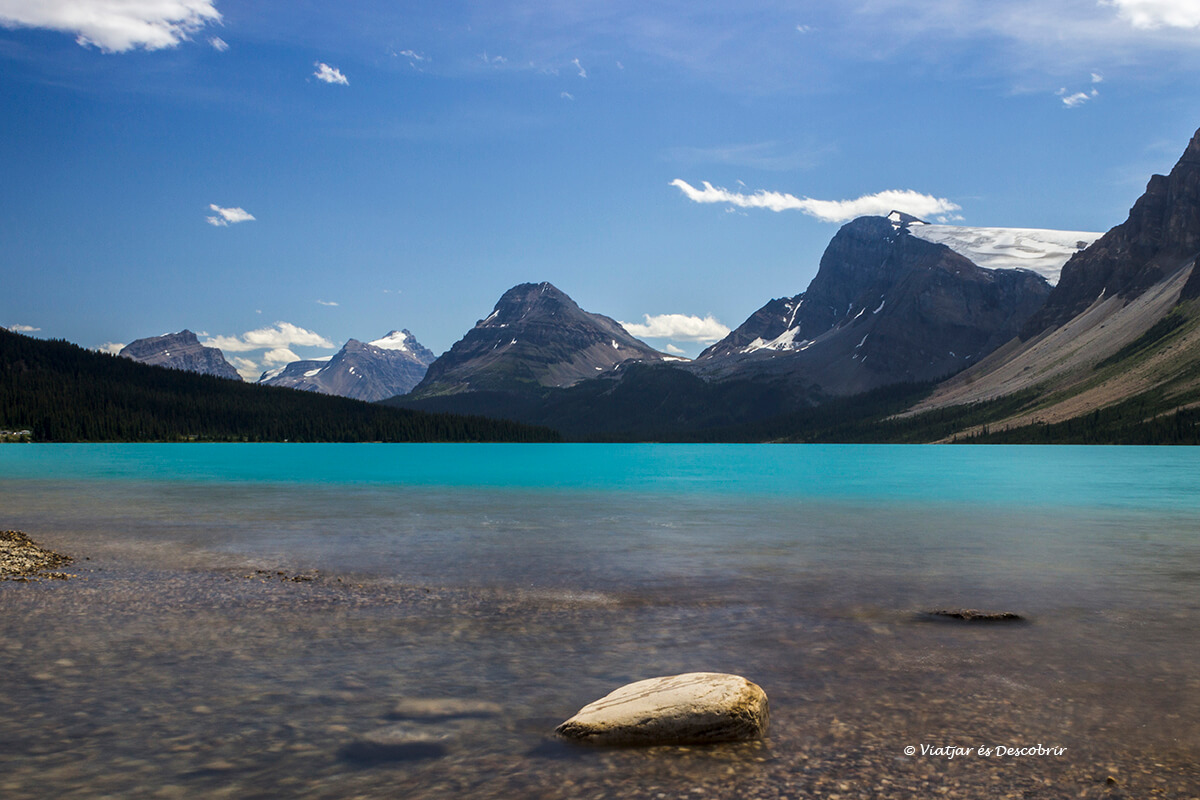 lago bow fotografia desde la orilla