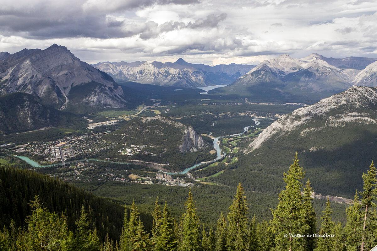 vista panoramica de banff desde la sulphur mountain