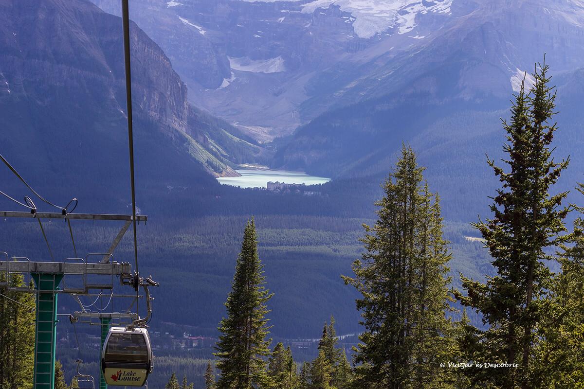 teleferico del lago louise en el parque nacional banff