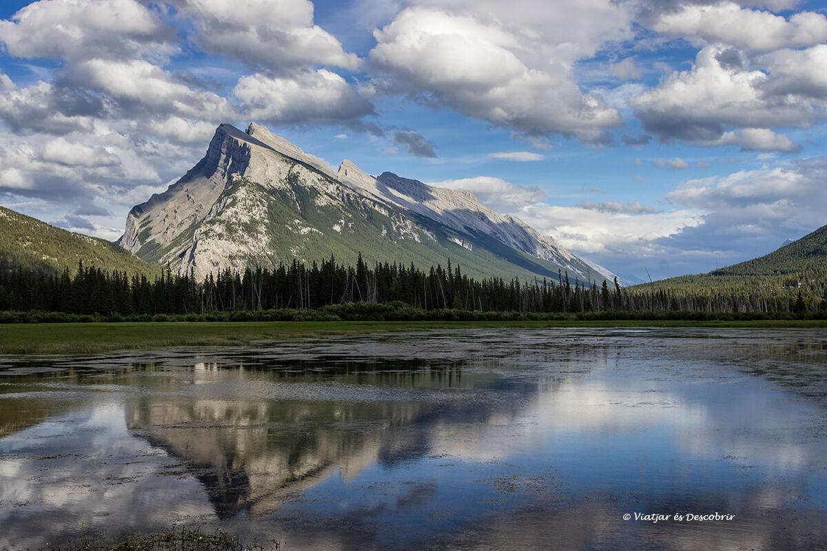 reflejos en las montañas que ver en el parque nacional banff