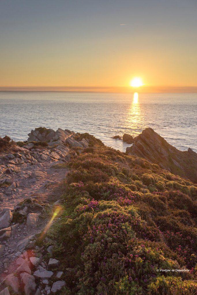 caboErquy puesta de sol en la bretaña francesa