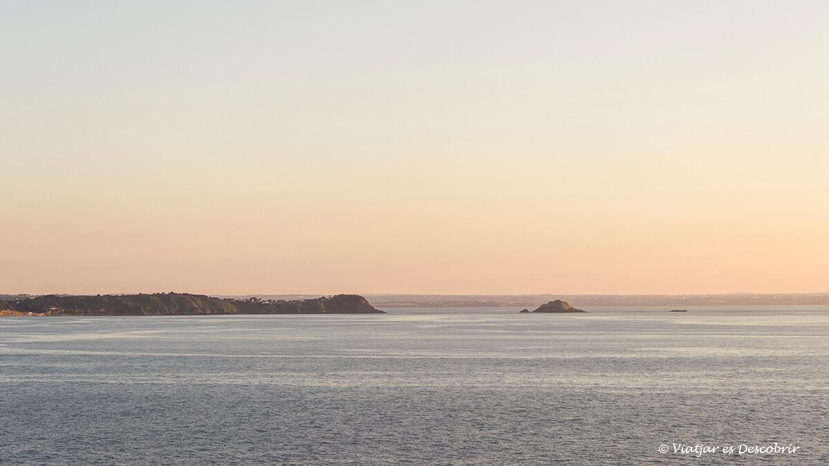puesta de sol en la cabo erquy