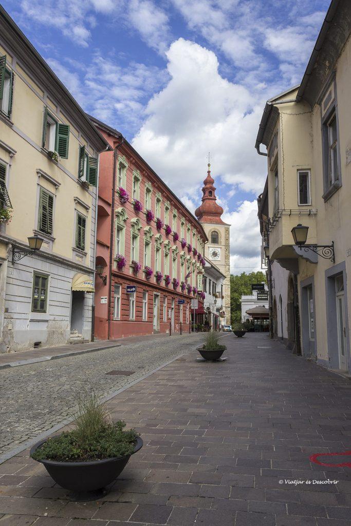 calles históricos de la ciudad de Ptuj en Eslovenia
