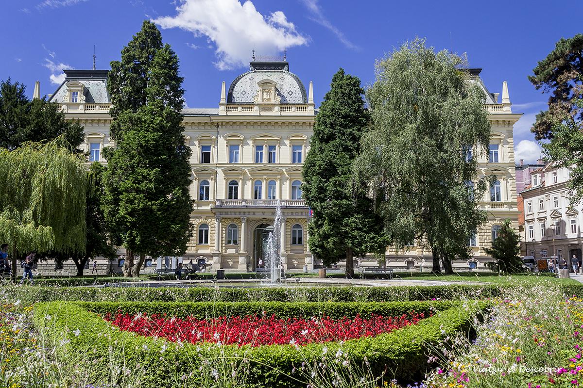 zona verde de la ciudad de Maribor en Eslovenia