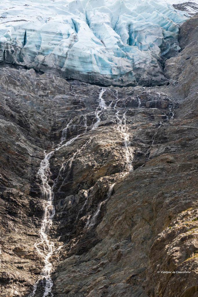 Glaciar des Bossons en el sexto día del viaje a chamonix