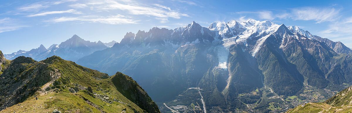 panoramica del viaje a chamonix durante una excursion