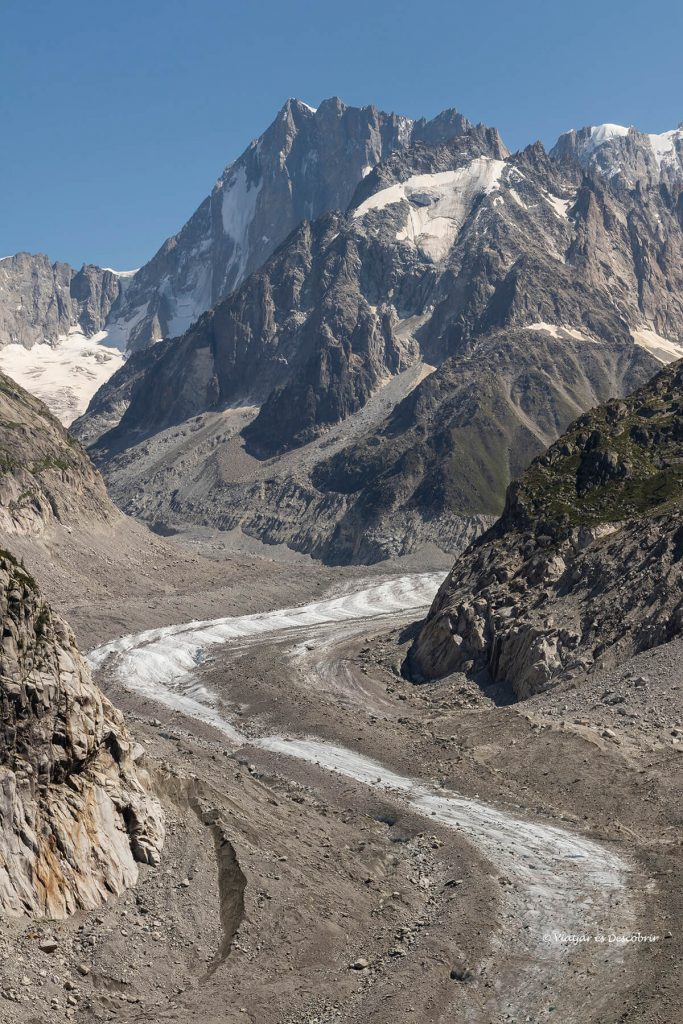 la mer du glace en los alpes franceses