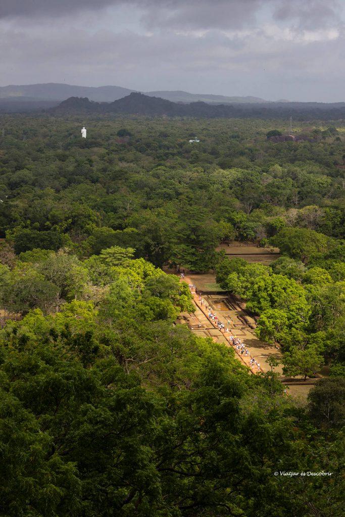 vista panorámica desde la roca de Sigiriya