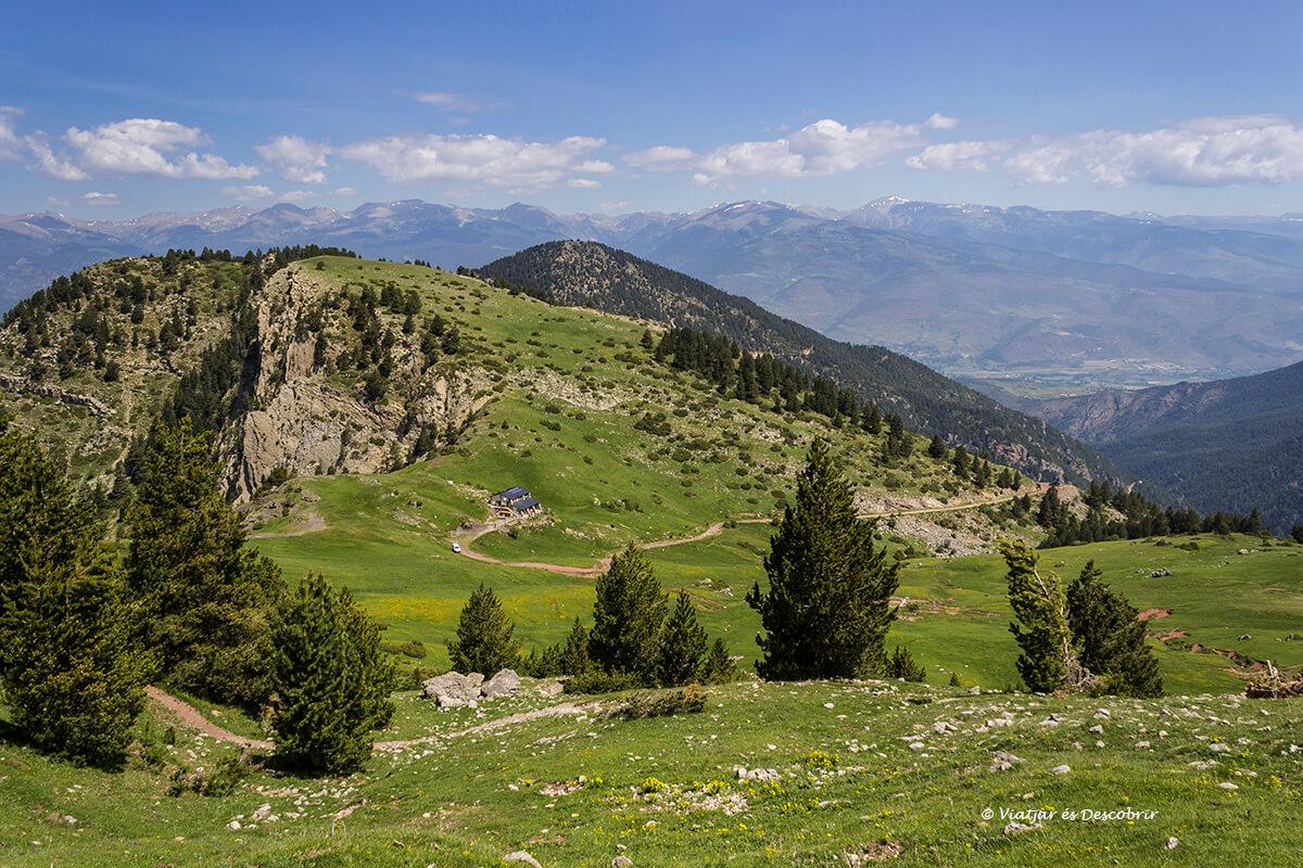 panoramica del Refugio Prat d'Aguiló