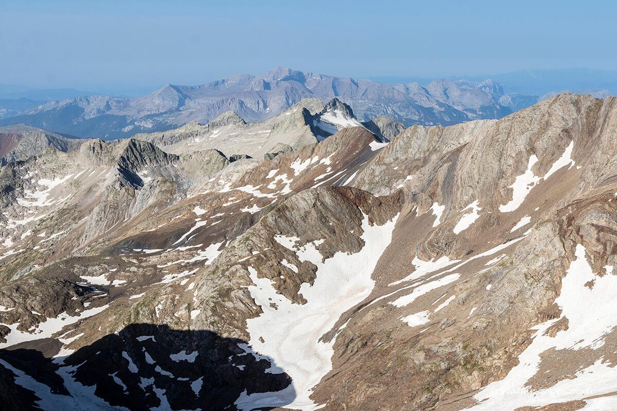 ascensión al posets desde Ángel Orús vista panorámica desde la cima