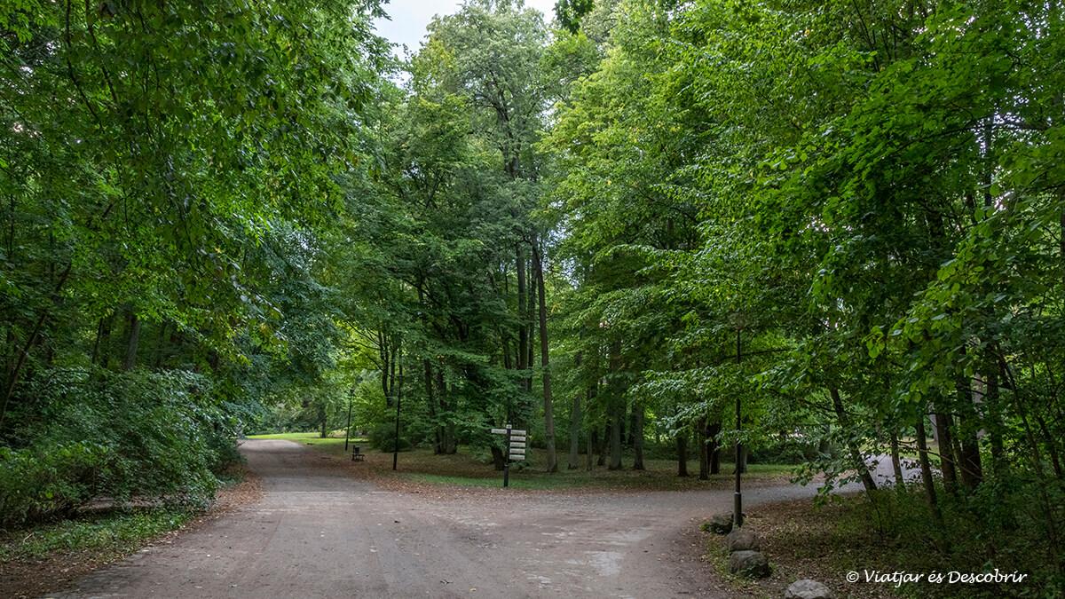 caminos del palace park de Bialowieza en polonia