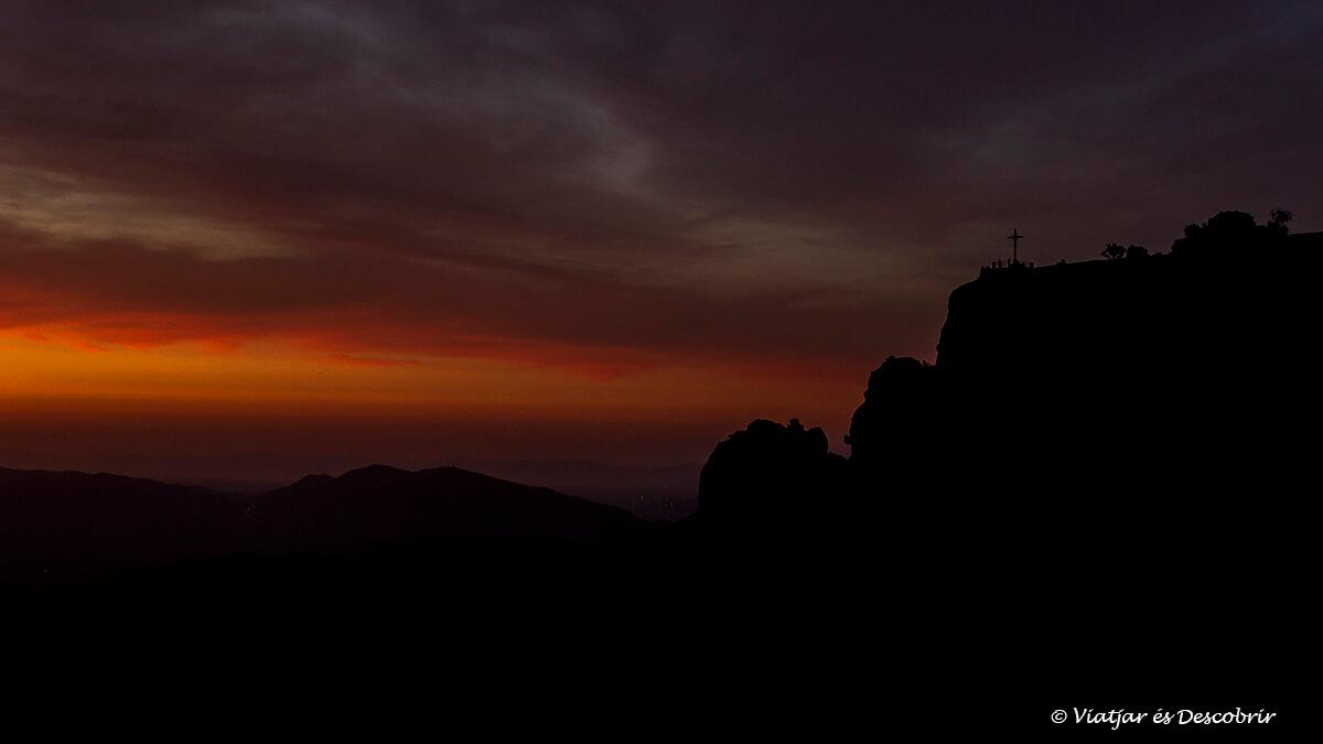 amanecer en la creu de sant miquel